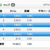 7/22の練習 1K int * 3 → 3'05″、3'09″、3'13″、 80分LSD→12.08km