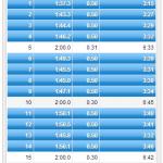 8/14の練習 クルーズインターバル 2K*3本 ; LT強度で常に一定ペース!!