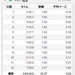 8/27の練習 朝イチjog 11.37km