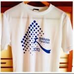 9/4の練習 朝イチjog 12.55km ; 2013北海道マラソンの参加賞Tシャツを着てみました。