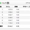 9/22の練習 30分jog 5.18km