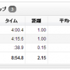 """12/9の練習 ひとりペース走(4'00""""/km) → ムリでした。2kmで中止!"""