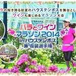 【バラとワインマラソン in ハウステンボス】6月1日開催!「メドックマラソン」とはちょっと違う。