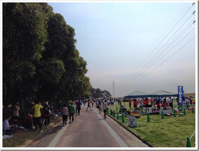 マラソントレーニング in 庄内緑地公園