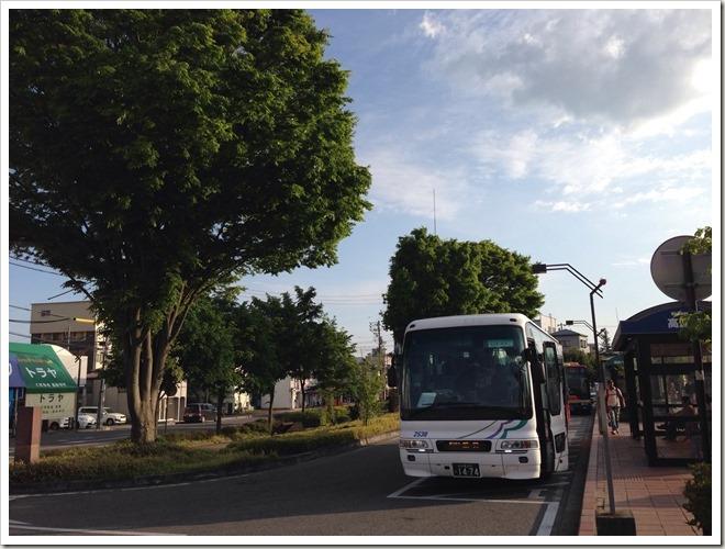 名鉄バス(高速バス)から降りました