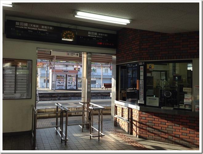 JR飯田駅・ICカード非対応。自動改札機もありません。
