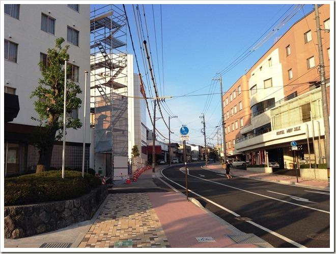 JR飯田駅からシルクホテルへ移動中