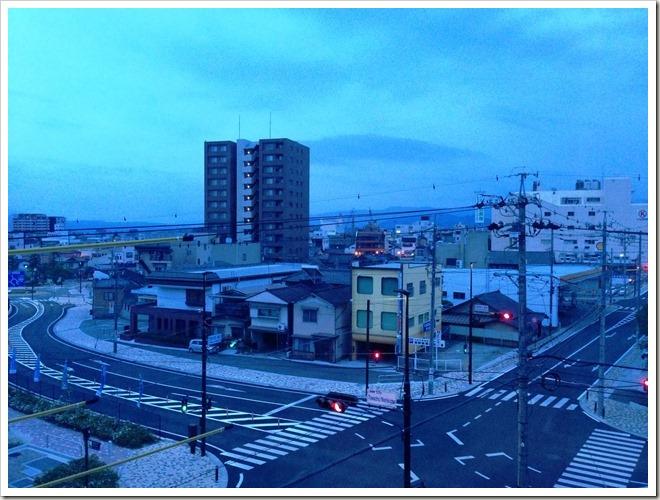 シルクホテル(長野県飯田市)から眺め