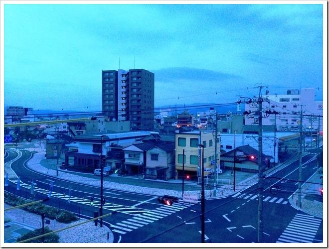 シルクホテル(長野県飯田市)からの眺め