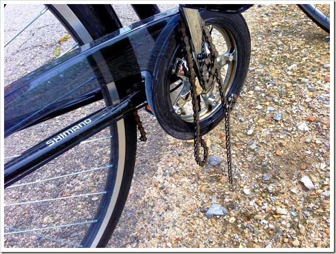 自転車のチェーンが切れました