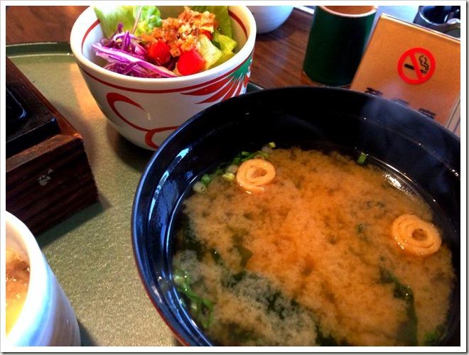 和麺カフェ 花ごよみ お味噌汁