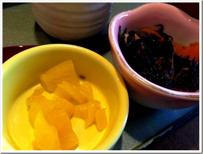 和麺カフェ 花ごよみ  漬物と小鉢