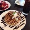【Cafe Jr.(カフェジュニア)】パンケーキセット!「チョコバナナ」と「ベリーミックス」!!