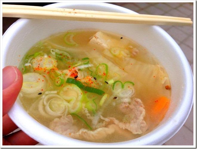 黒部名水マラソン・名水鍋(豚汁)
