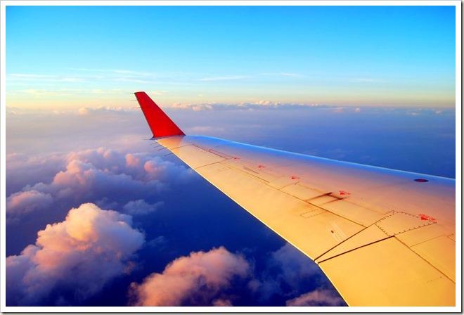 飛行機・雲の上
