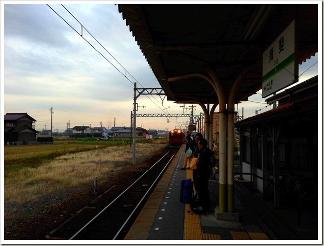 いびがわマラソン2013前日・揖斐駅