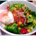 【nana's green tea(イオンモール岡崎店)】「鶏そぼろどんぶり」ほろほろ感がいい!
