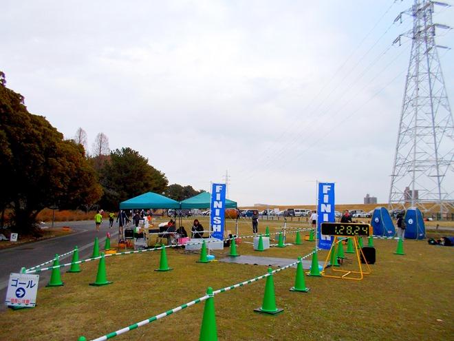年忘れマラソン in 庄内緑地公園 ゴール地点