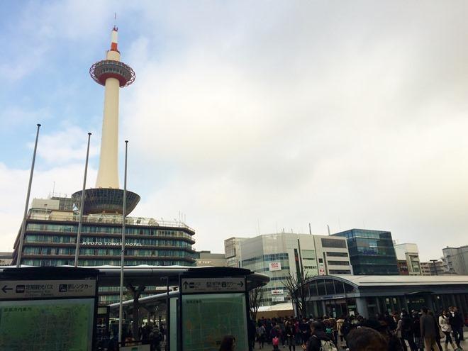 京都タワーホテル 京都駅からの撮影