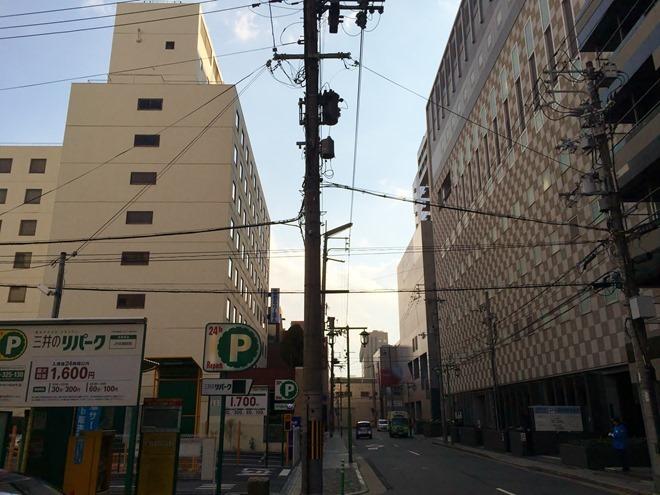 京都第二タワーホテルへの道
