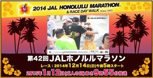 第42回JALホノルルマラソン TBSテレビ ページ画像