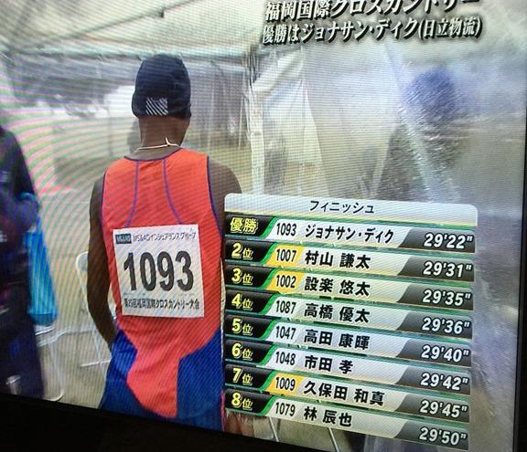 福岡国際クロスカントリー2015 シニア10km結果