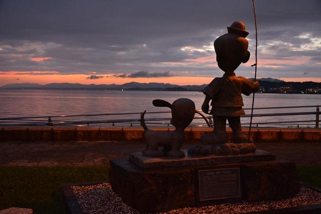 夕方の宍道湖