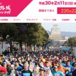 【世界遺産 姫路城マラソン 2018】結果・速報・完走率(リザルト)