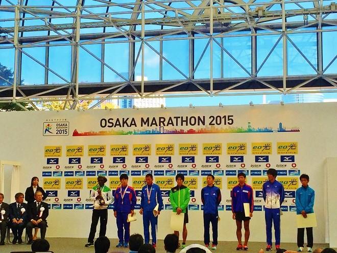 大阪マラソン 表彰式の写真