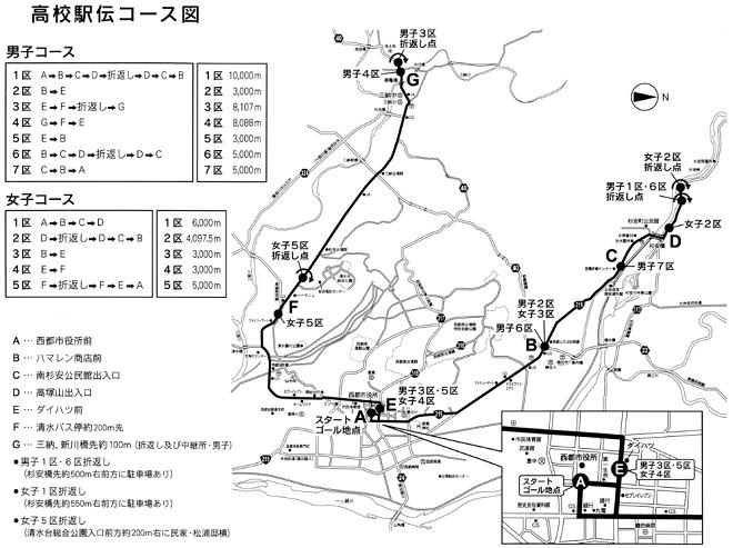 九州高校駅伝 コースマップ