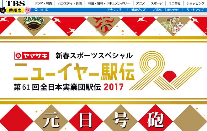 ニューイヤー駅伝2017画像