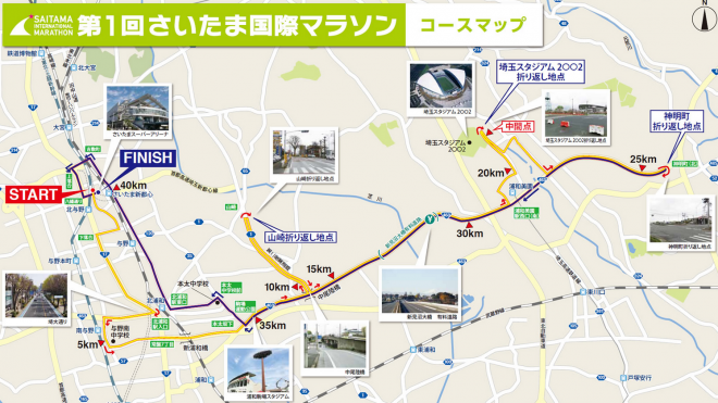 第1回さいたま国際マラソン コースマップ