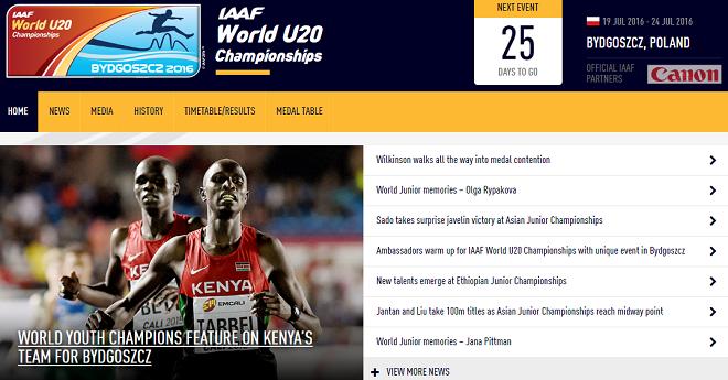 U20世界陸上競技選手権 画像