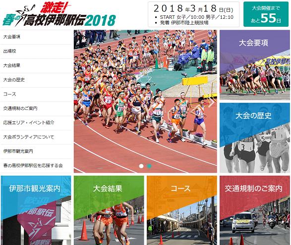 春の高校伊那駅伝2018画像
