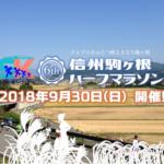 【信州駒ヶ根ハーフマラソン 2018】結果・速報(リザルト)