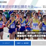 関西実業団駅伝 2019【龍神駅伝】区間エントリー・出場チーム