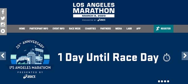 ロサンゼルスマラソン2020画像