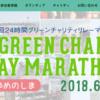 【24時間グリーンチャリティリレーマラソン 2018】結果・速報(リザルト)