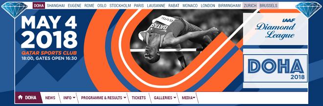 IAAFダイヤモンドリーグ第1戦ドーハ大会画像