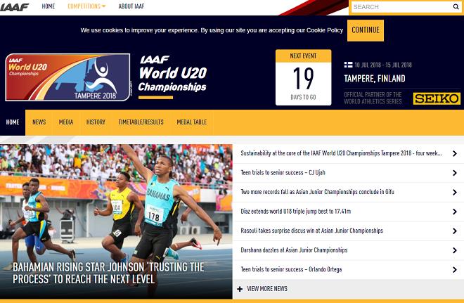 U20世界陸上競技選手権2018画像