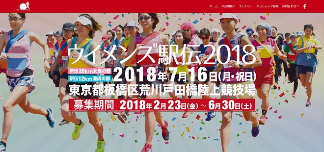 ウイメンズ駅伝2018画像