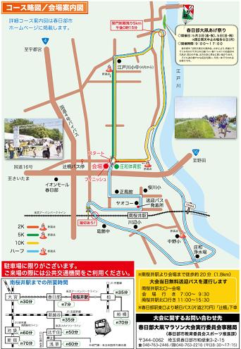 春日部大凧マラソン2019コースマップ