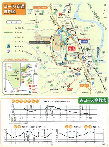 金ケ崎マラソン2019コースマップ