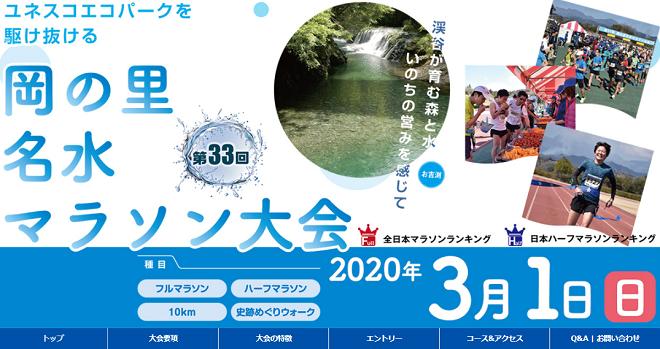 岡の里名水マラソン2020画像