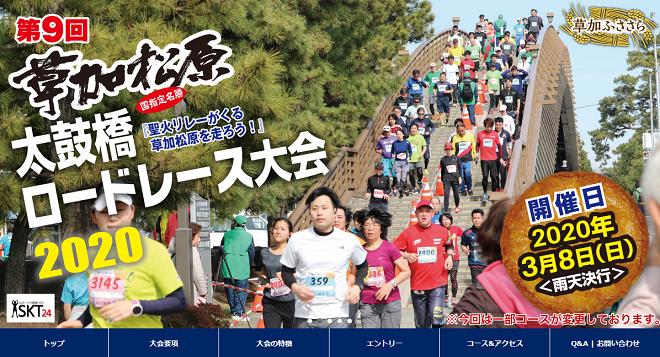 草加松原太鼓橋ロードレース2020画像