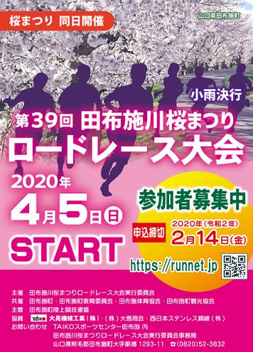 田布施川桜まつりロードレース2020画像
