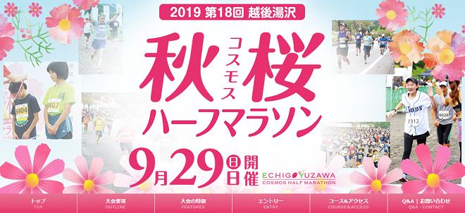 越後湯沢秋桜ハーフマラソン2019画像