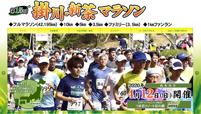 掛川・新茶マラソン2020画像