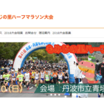 【兵庫・丹波もみじの里ハーフマラソン 2019】エントリー6月3日開始。結果・速報(リザルト)