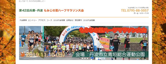 兵庫・丹波もみじの里ハーフマラソン2019画像